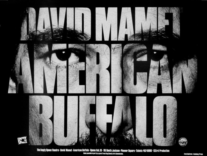Poster for American Buffalo at The Empty Space