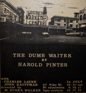 The poster for The Dumbwaiter